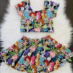 Toddler toy story two piece crop set
